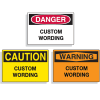 Custom Equipment Hazard Mini Warning Signs