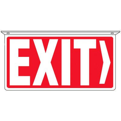 Exit (Right Arrow) - 2-Way Ceiling Mounted Signs