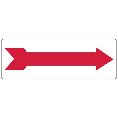 Directional Arrow Safety Sign