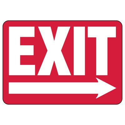 Exit (Right Arrow) - Industrial Exit Signs