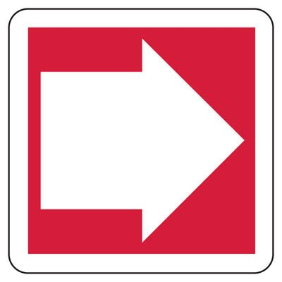 Directional Arrow Safety - Industrial Exit Signs