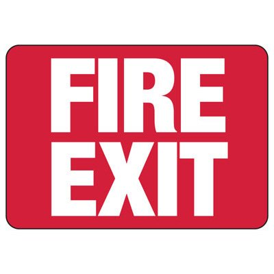 Fire Exit - Industrial Exit Signs