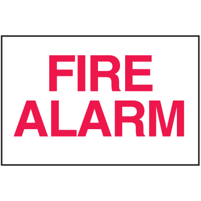 Fire Alarm Sign - Polished Plastic Sign