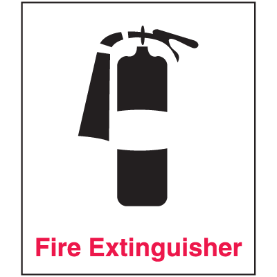 Fire Extinguisher Sign - Polished Plastic
