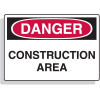Extra Large OSHA Signs - Danger - Construction Area