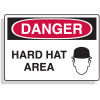 Extra Large OSHA Signs - Danger Hard Hat Area (w/ Graphic)