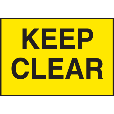 Facility Signs For Rough Surfaces - Keep Clear