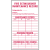 Fire Extinguisher Maintenance Record Labels