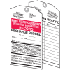 Fire Extinguisher Tags - Recharge and Inspection Record
