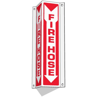 Fire Hose - Slim-Line 3-Way Signs