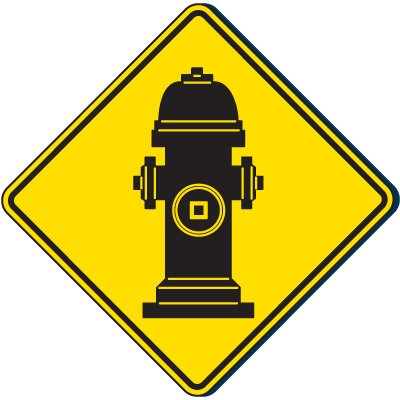 Fire Hydrant Graphic - Fire Equipment Signs
