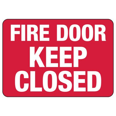 Exit & Fire Equipment Signs - Fire Door Keep Closed