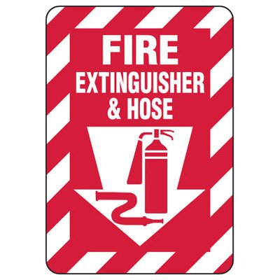 Fire Extinguisher & Hose - Fire Safety Sign