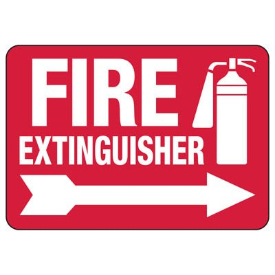 Fire Extinguisher Right Arrow - Fire Safety Sign