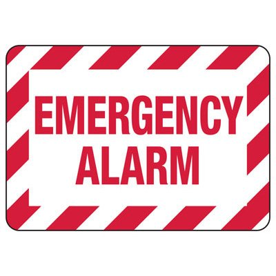 Emergency Alarm - Fire Safety Sign