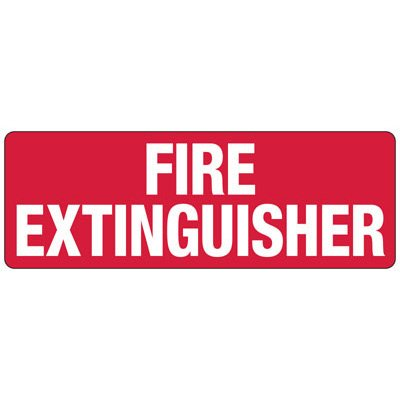 Fire Extinguisher - Industrial Fire Signs
