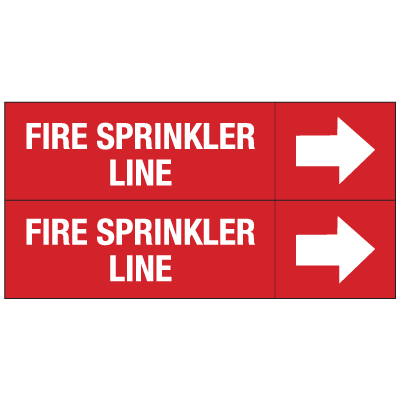 Self-Adhesive  Fire Sprinkler Line Marker with Right Arrow