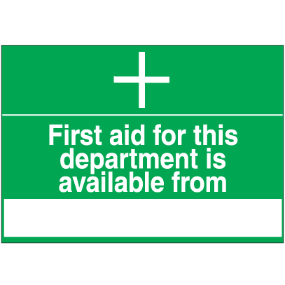First Aid Signs - First Aid For This Department