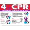 First Aid Wall Charts - 4 Steps To CPR
