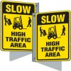 Flanged Traffic Signs - Slow High Traffic Area
