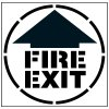 Pavement Tool Floor Stencils - Fire Exit (With Arrow) S-5526 D