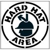 Pavement Tool Floor Stencils - Hard Hat Area S-5518 D