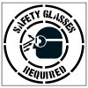 Pavement Tool Floor Stencils - Safety Glasses Required (With Graphic) S-5505 D