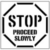 Pavement Tool Floor Stencils - Stop Proceed Slowly S-5503 D
