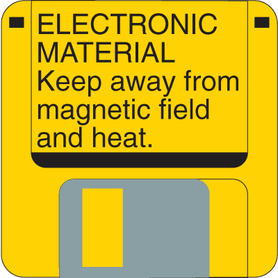 Electronic Material Fluorescent Attention Getting Labels