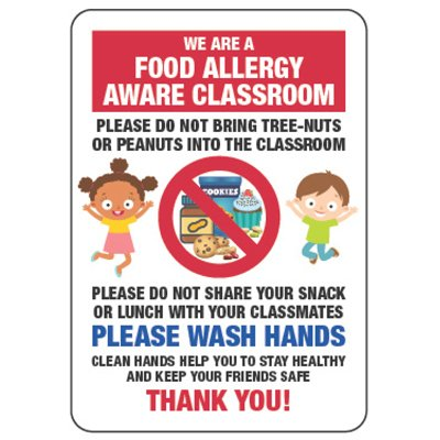 Food Allergy Aware Class Do Not Bring Peanuts - Food Allergy Signs