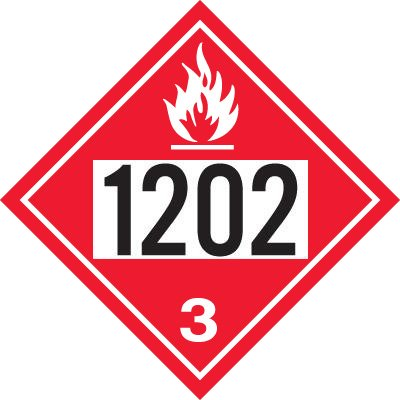 1202 Gas, Oil, Diesel Fuel, Heating Oil - DOT Placards