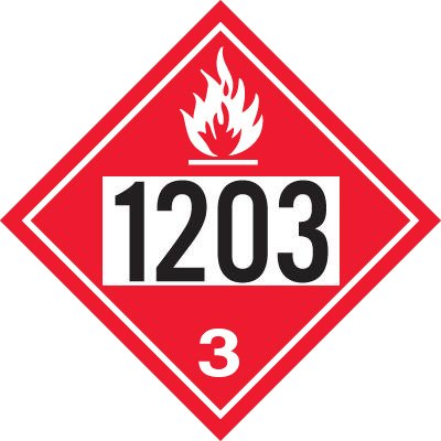 1203 Gasoline - DOT Placards