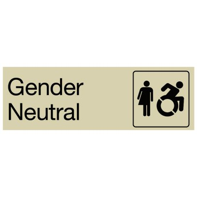 Gender Neutral (Dynamic Accessibility) - Restroom Signs