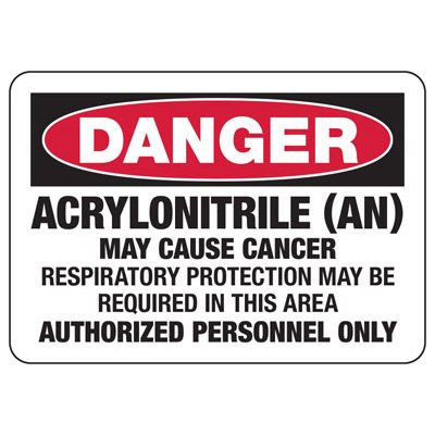 Mandatory GHS Safety Signs - Danger Acrylonitrile