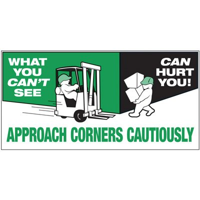 Giant Motivational Wall Graphics - Approach Corners Cautiously