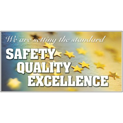 Giant Motivational Wall Graphics - Safety Quality Excellence