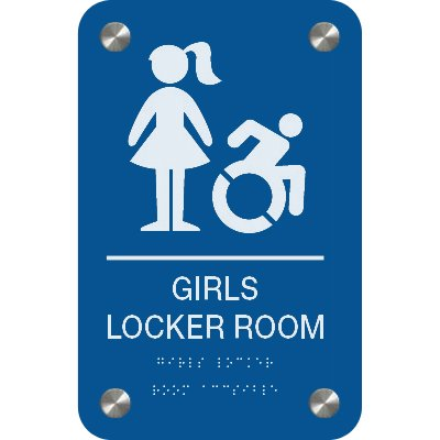 Girl's Locker Room - Premium ADA Facility Signs