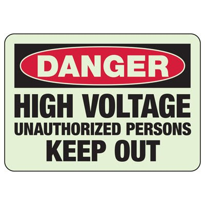 Danger High Voltage Unauthorized Personnel - Electrical Safety Sign