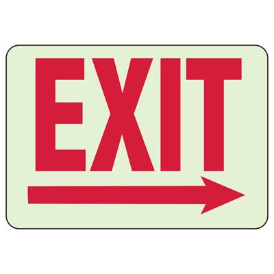Glow In The Dark Exit Sign