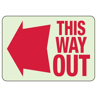 Luminous Exit and Path Marker Signs - This Way Out