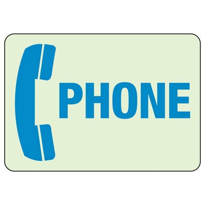 Phone With Graphic - Glow-In-The-Dark Phone Signs
