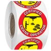 Hard Hat Safety Labels On A Roll - Certified Crane Operator