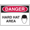 Harsh Condition OSHA Signs - Hard Hat Area