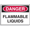 Danger Flammable Liquids - Hazard Warning Label