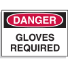 Hazard Warning Labels - Danger Gloves Required