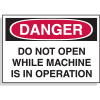 Hazard Warning Labels - Danger Do Not Open