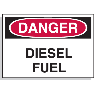 Hazard Warning Labels - Danger Diesel Fuel