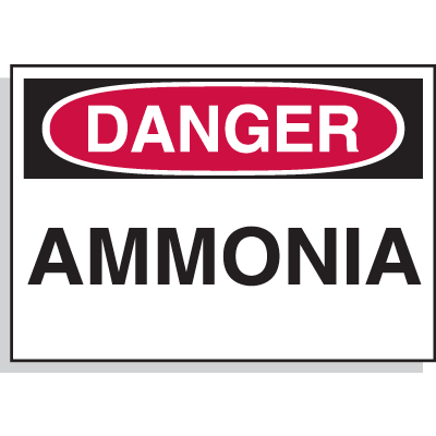 Hazard Warning Labels - Danger Ammonia