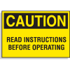 Hazard Warning Labels - Caution Read Instructions Before Opening