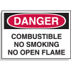 Hazard Warning Labels - Danger Combustible